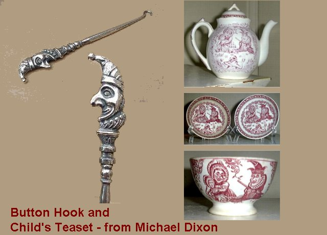Button hook and tea set